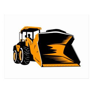mechanical digger construction excavator postcards