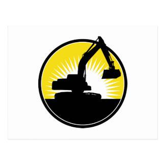 mechanical digger excavator postcards