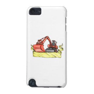 Mechanical Digger Excavator Ribbon Tattoo iPod Touch 5G Cases