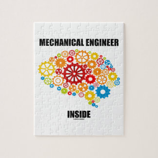 Mechanical Engineer Inside (Gears Brain) Jigsaw Puzzle