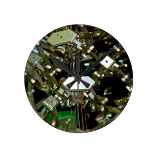 Mechanical Flex Abstraction Round Wallclocks