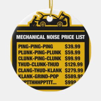 Mechanical Noise Price List Ceramic Ornament