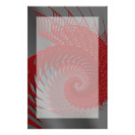 Mechanical Shell. Red and Grey Digital Art. Customised Stationery