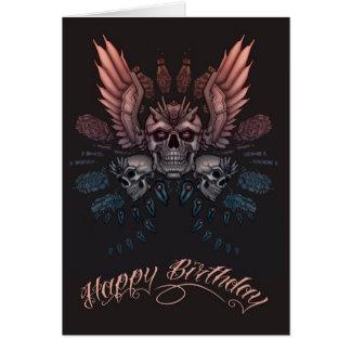 Mechanical Skull Birthday Card