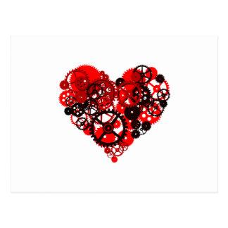 MECHANICAL STEAMPUNK HEART POSTCARD
