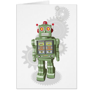 Mechanical Toy Robot Birthday Card