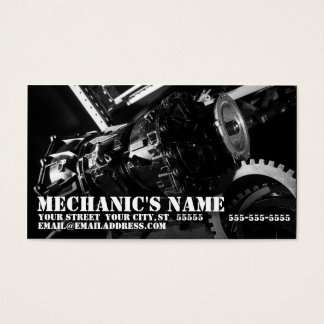 Mechanic's Business Card w/ Transmission Photo