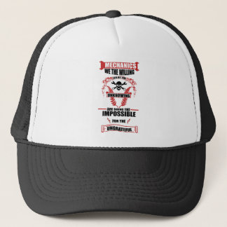 mechanics design trucker hat