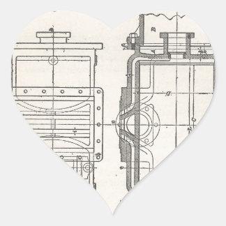 Mechanic's Pocletbook Heart Sticker