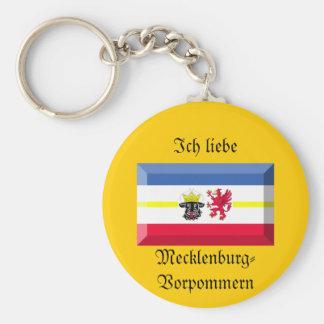 Mecklenburg-Vorpommern Flag Gem Key Chains