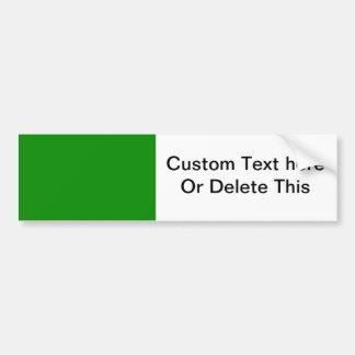 med green DIY custom background template Car Bumper Sticker