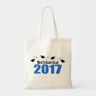 Med School Grad 2017 Caps And Diplomas (Blue) Tote Bag