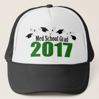 Med School Grad 2017 Caps And Diplomas (Green)