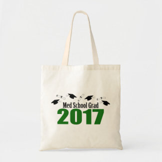 Med School Grad 2017 Caps And Diplomas (Green) Tote Bag