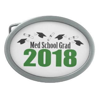 Med School Grad 2018 Caps And Diplomas (Green) Belt Buckle