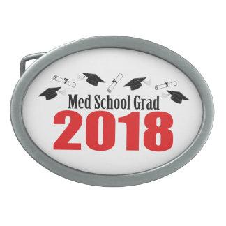 Med School Grad 2018 Caps And Diplomas (Red) Belt Buckle