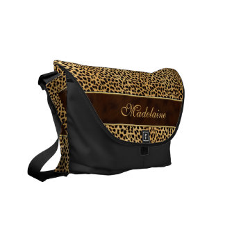 MED Size Cheetah Animal Print for the Wild Woman Courier Bags