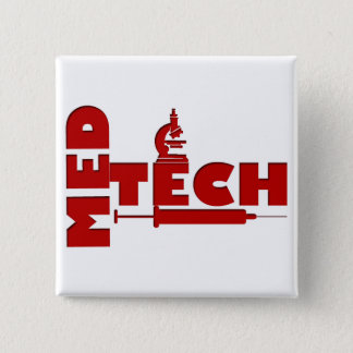 MED TECH MICROSCOPE SYRINGE (MEDICAL TECHNOLOGIST) 15 CM SQUARE BADGE