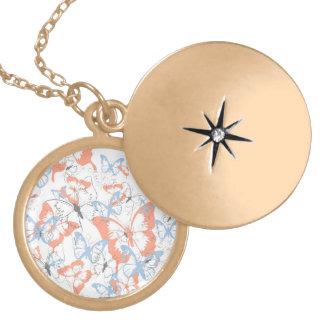Medallion - A million butterflies Locket Necklace