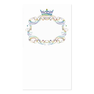 Medallion and Crown Ornate Business Card