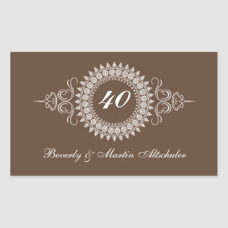 Medallion Change the Number Anniversary Sticker