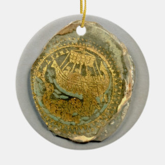 Medallion depicting Jonah and the whale, Roman, 4t Ceramic Ornament