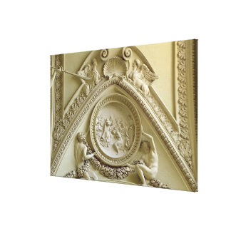 Medallion depicting the Baptism of Constantine Canvas Print