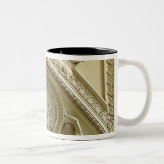 Medallion depicting the Baptism of Constantine Two-Tone Coffee Mug