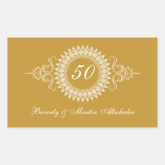 Medallion Golden Anniversary Sticker