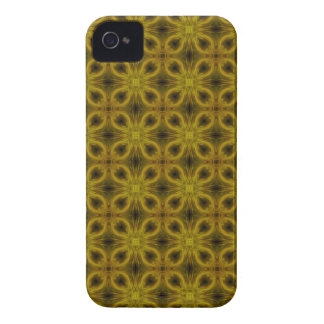 Medallion Pattern in Gold iPhone 4 Case
