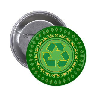 Medallion Recycle Sign Buttons