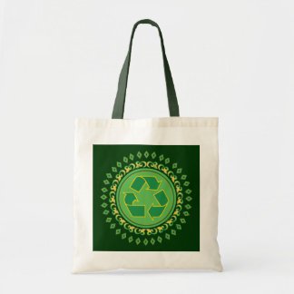 Medallion Recycle Sign Canvas Bag
