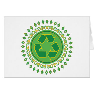 Medallion Recycle Sign Greeting Card