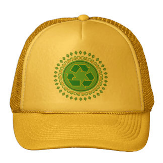 Medallion Recycle Sign Hats