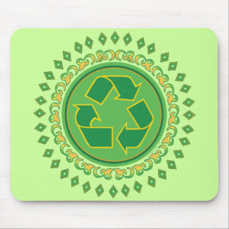 Medallion Recycle Sign Mouse Pad