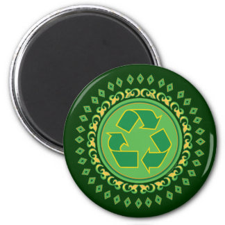 Medallion Recycle Sign Refrigerator Magnets