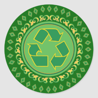 Medallion Recycle Sign Round Sticker