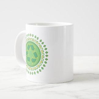 Medallion Recycle Symbol Jumbo Mugs