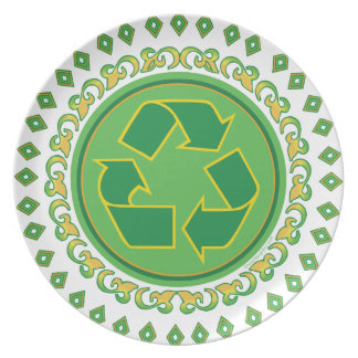 Medallion Recycle Symbol Party Plate