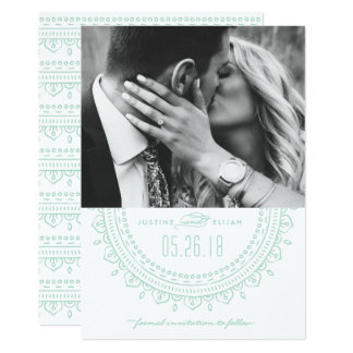 Medallion Save the Date Card - Mint