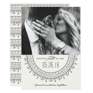 Medallion Save the Date Card - Slate