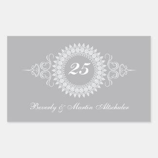 Medallion Silver Anniversary Sticker
