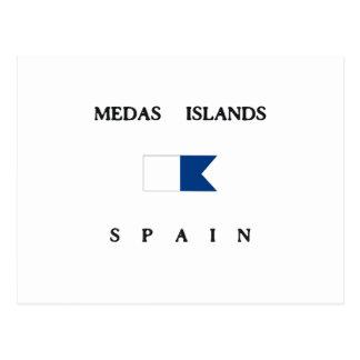 Medas Islands Spain Alpha Dive Flag Postcard