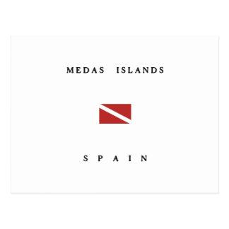 Medas Islands Spain Scuba Dive Flag Postcard