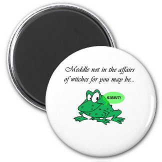 Meddle not in the affairs of witches 6 cm round magnet