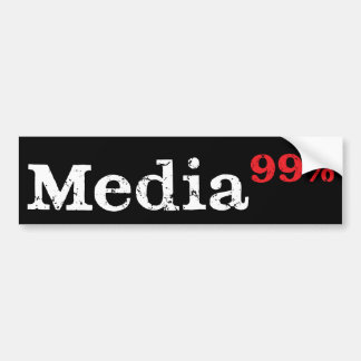 Media99% Bumper Sticker (white on black)
