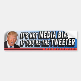 Media Bias Tweeter Bumper Sticker