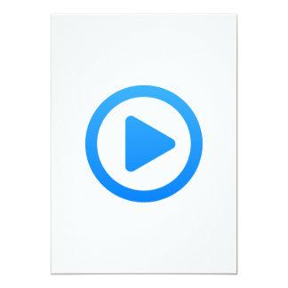 Media player Sign 13 Cm X 18 Cm Invitation Card
