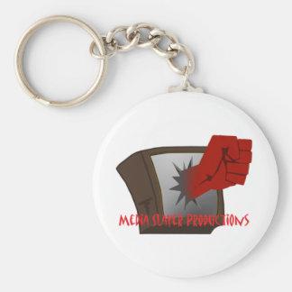 MEdia Slayer Accesories Basic Round Button Key Ring