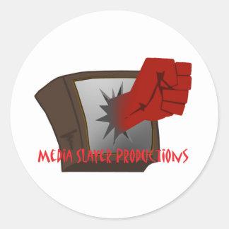 MEdia Slayer Accesories Round Sticker